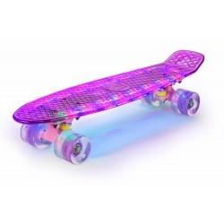 Deskorolka Fishboard Powermat (fioletowy LED) LED Design