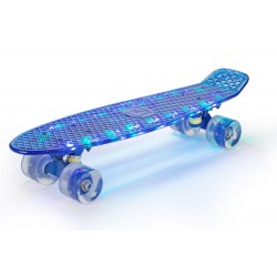 Deskorolka Fishboard Powermat (niebieski LED) LED Design